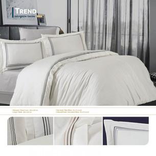 Постельное белье Grazie Home TREND хлопковый сатин делюкс серый евро