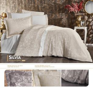 Постельное белье Grazie Home SILVIA хлопковый сатин-жаккард делюкс кремовый евро