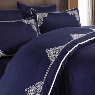 Постельное белье Grazie Home SANTA хлопковый сатин делюкс синий евро