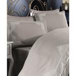 Постельное белье Grazie Home SANTA хлопковый сатин делюкс коричневый евро, фото, фотография