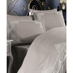 Постельное белье Grazie Home SANTA хлопковый сатин делюкс коричневый евро