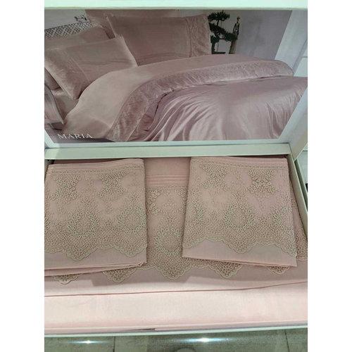 Постельное белье Grazie Home MARIA хлопковый сатин делюкс пудра евро, фото, фотография
