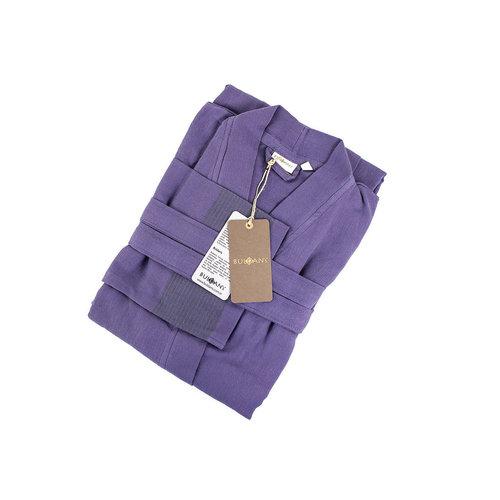 Халат мужской Buldan's SERA хлопок фиолетовый L/XL, фото, фотография