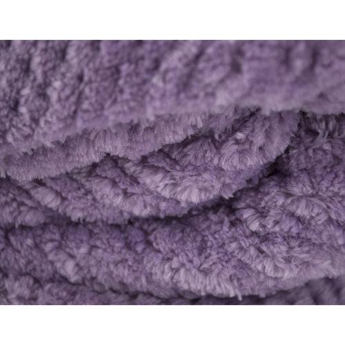 Плед-покрывало Tivolyo Home FAVO SOFT велсофт лиловый 200х220, фото, фотография