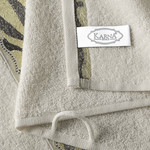 Подарочный набор полотенец для ванной 50х90, 70х140 Karna IVORY хлопковая махра кремовый, фото, фотография