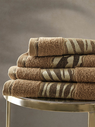 Подарочный набор полотенец для ванной 50х90, 70х140 Karna IVORY хлопковая махра горчичный, фото, фотография