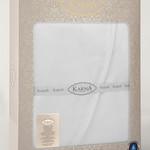 Скатерть овальная Karna DORE водонепроницаемый жаккард белый 160х220, фото, фотография