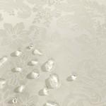 Скатерть овальная Karna DORE водонепроницаемый жаккард кремовый 160х220, фото, фотография
