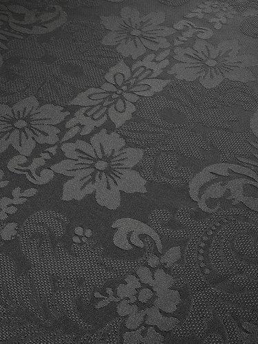 Скатерть круглая Karna DORE водонепроницаемый жаккард антрацит D=160, фото, фотография
