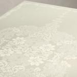 Скатерть прямоугольная Karna DORE водонепроницаемый жаккард кремовый 160х220, фото, фотография
