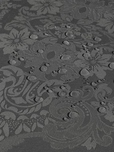 Скатерть прямоугольная Karna DORE водонепроницаемый жаккард антрацит 160х220, фото, фотография