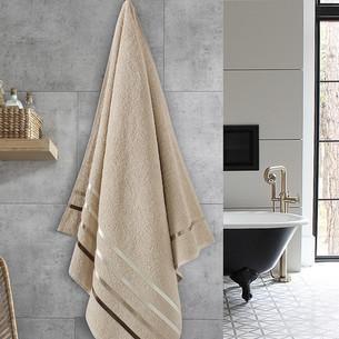 Полотенце для ванной Karna CLASSIC хлопковая махра бежевый 70х140