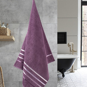 Полотенце для ванной Karna CLASSIC хлопковая махра светло-лавандовый 70х140