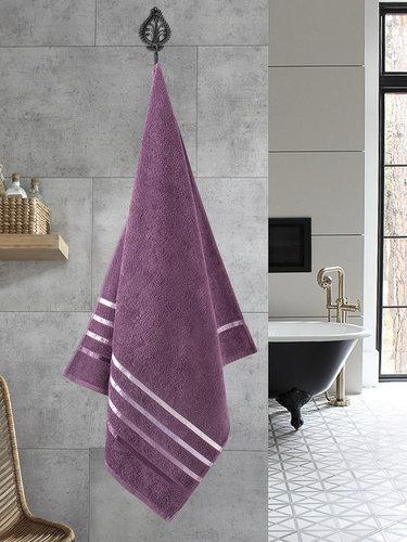 Полотенце для ванной Karna CLASSIC хлопковая махра светло-лавандовый 70х140, фото, фотография