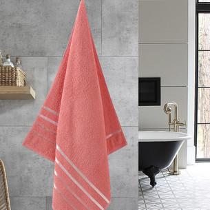 Полотенце для ванной Karna CLASSIC хлопковая махра коралловый 70х140