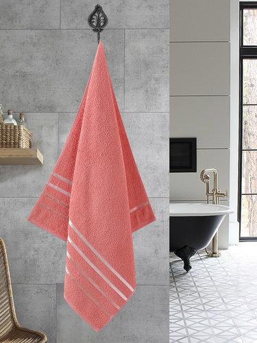 Полотенце для ванной Karna CLASSIC хлопковая махра коралловый 70х140, фото, фотография