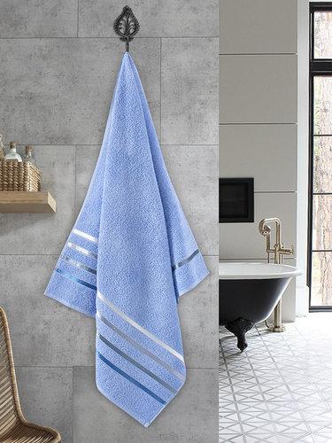 Полотенце для ванной Karna CLASSIC хлопковая махра голубой 70х140, фото, фотография