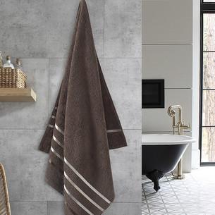 Полотенце для ванной Karna CLASSIC хлопковая махра коричневый 70х140