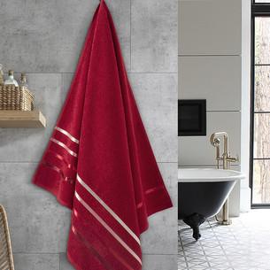 Полотенце для ванной Karna CLASSIC хлопковая махра красный 70х140