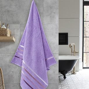 Полотенце для ванной Karna CLASSIC хлопковая махра сиреневый 70х140