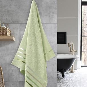 Полотенце для ванной Karna CLASSIC хлопковая махра светло-зеленый 70х140