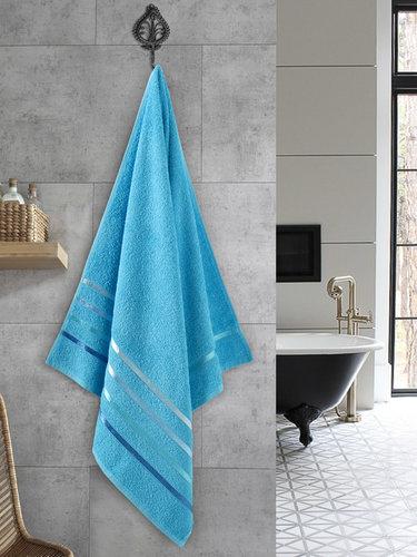 Полотенце для ванной Karna CLASSIC хлопковая махра бирюзовый 70х140, фото, фотография