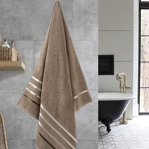 Полотенце для ванной Karna CLASSIC хлопковая махра кофейный 70х140