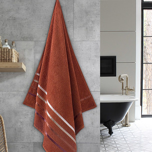 Полотенце для ванной Karna CLASSIC хлопковая махра кирпичный 70х140