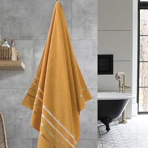 Полотенце для ванной Karna CLASSIC хлопковая махра темно-желтый 70х140