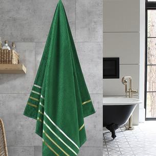 Полотенце для ванной Karna CLASSIC хлопковая махра темно-зеленый 70х140
