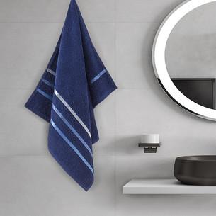 Полотенце для ванной Karna CLASSIC хлопковая махра cиний 50х80