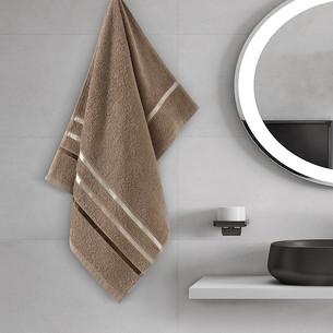 Полотенце для ванной Karna CLASSIC хлопковая махра кофейный 50х80