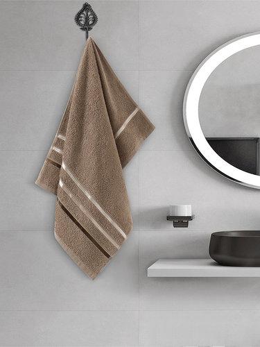 Полотенце для ванной Karna CLASSIC хлопковая махра кофейный 50х80, фото, фотография