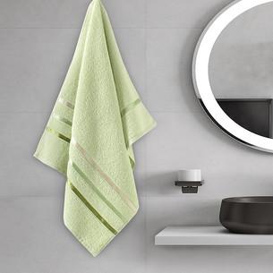 Полотенце для ванной Karna CLASSIC хлопковая махра светло-зеленый 50х80