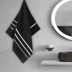 Полотенце для ванной Karna CLASSIC хлопковая махра черный 50х80