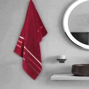 Полотенце для ванной Karna CLASSIC хлопковая махра красный 50х80