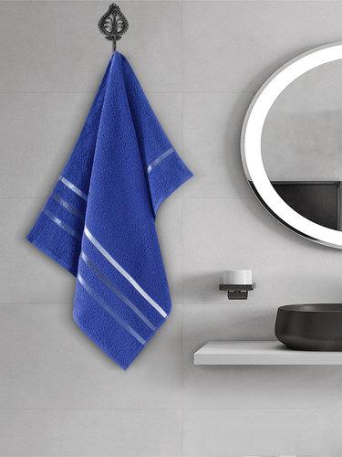 Полотенце для ванной Karna CLASSIC хлопковая махра королевский синий 50х80, фото, фотография