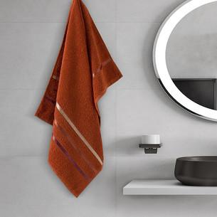 Полотенце для ванной Karna CLASSIC хлопковая махра терракотовый 50х80