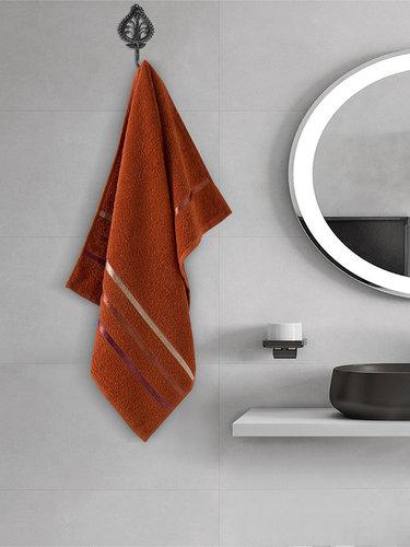 Полотенце для ванной Karna CLASSIC хлопковая махра терракотовый 50х80, фото, фотография
