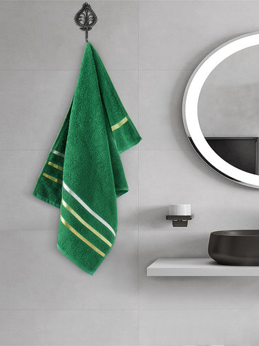 Полотенце для ванной Karna CLASSIC хлопковая махра темно-зеленый 50х80, фото, фотография