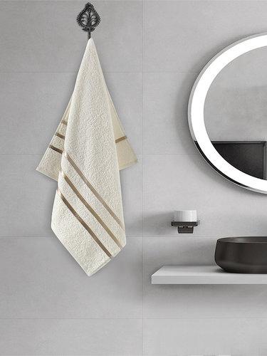 Полотенце для ванной Karna CLASSIC хлопковая махра кремовый 50х80, фото, фотография
