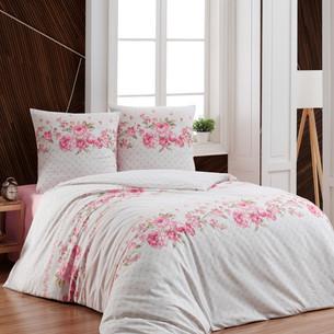 Постельное белье Karna SELIN хлопковая бязь 2-х спальный (нав. 70х70)
