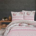 Постельное белье Karna ALVIA хлопковая бязь абрикосовый 1,5 спальный (нав. 70х70), фото, фотография