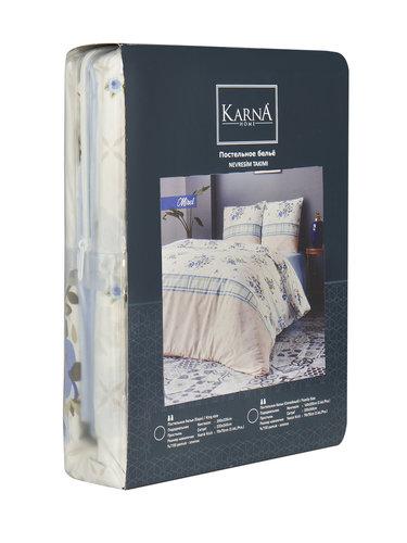 Постельное белье Karna MIREL хлопковая бязь семейный (нав. 70х70), фото, фотография
