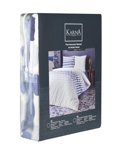 Постельное белье Karna PAVLA хлопковая бязь евро (нав. 70х70), фото, фотография