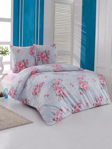 Постельное белье Karna EVELIN хлопковая бязь 2-х спальный (нав. 70х70), фото, фотография
