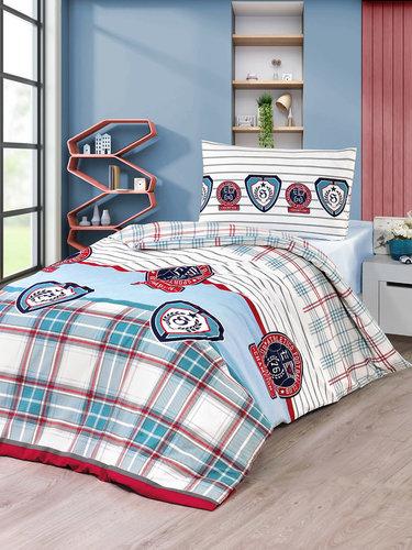 Постельное белье Karna подростковое KUPA хлопковая бязь 2-х спальный (нав. 50х70), фото, фотография