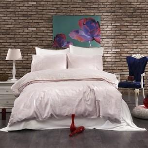 Постельное белье Grazie Home LOREA хлопковый сатин-жаккард делюкс пудра евро