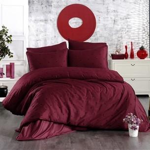 Постельное белье Grazie Home LOVEN'S хлопковый сатин делюкс бордовый+чёрный евро