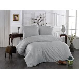 Постельное белье Grazie Home LOVEN'S хлопковый сатин делюкс серый евро